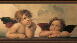 Цветы, букеты, композиции - Картина в раме 50х100 см RAFFAEL - ANGELITOS, 0