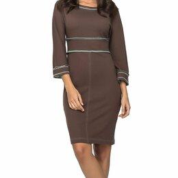 Платья - Платье коричневое трикотаж, 0