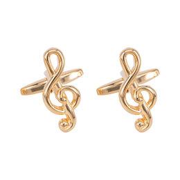 Запонки и зажимы - Запонки бижутерные Скрипичный ключ (Бижутерный сплав, Золотистый) 55272, 0