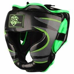 Аксессуары и принадлежности - Шлем боксерский закрытый RSC PU 3693 Черно-зеленый, 0