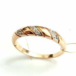 Кольца и перстни - Золотое кольцо с бриллиантами, 0
