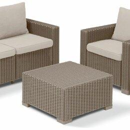 Комплекты садовой мебели - Комплект мебели Калифорния сет (California 3 seater set) капучино, 0