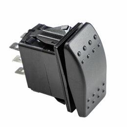 Электроустановочные изделия - Переключатель трехпозиционный ON-ON-ON 12В/20А 6Р, 0