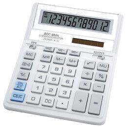 Калькуляторы - CITIZEN Калькулятор CITIZEN SDC-888XWH 12-разр. (белый), 0