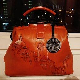 Сумки - Кожаная сумочка Oxford, маленькая, но вместительная , 0