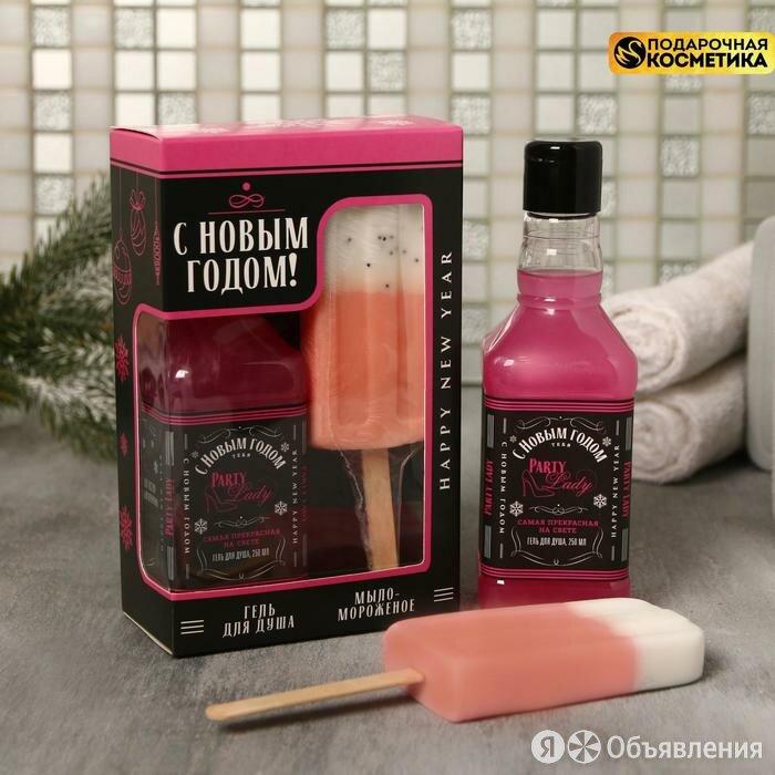 Набор 'С Новым годом' гель для душа виски, мыло-мороженка по цене 454₽ - Сувениры, фото 0