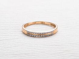 Кольца и перстни - Кольцо с 24 фианитами из красного золота, 0