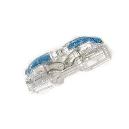 Товары для электромонтажа - Коннектор для проводов (клеммник), прозрачный, проходной, 0