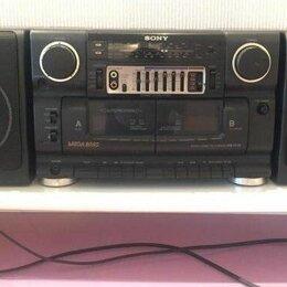Музыкальные центры,  магнитофоны, магнитолы - Японский магнитофон sony двухкассетный, 0