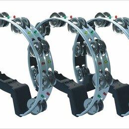 Ударные установки и инструменты - Gardenia LT-01 Тамбурин со светодиодами, 8 пар бубенцов, алюминий, 0