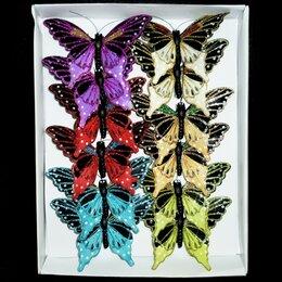 Украшения для девочек - Заколка бабочка в коробке 1шт 7х10см 1/12, 0