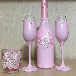 Свадебные украшения - Украшение бокалов и бутылок на свадьбу, 0