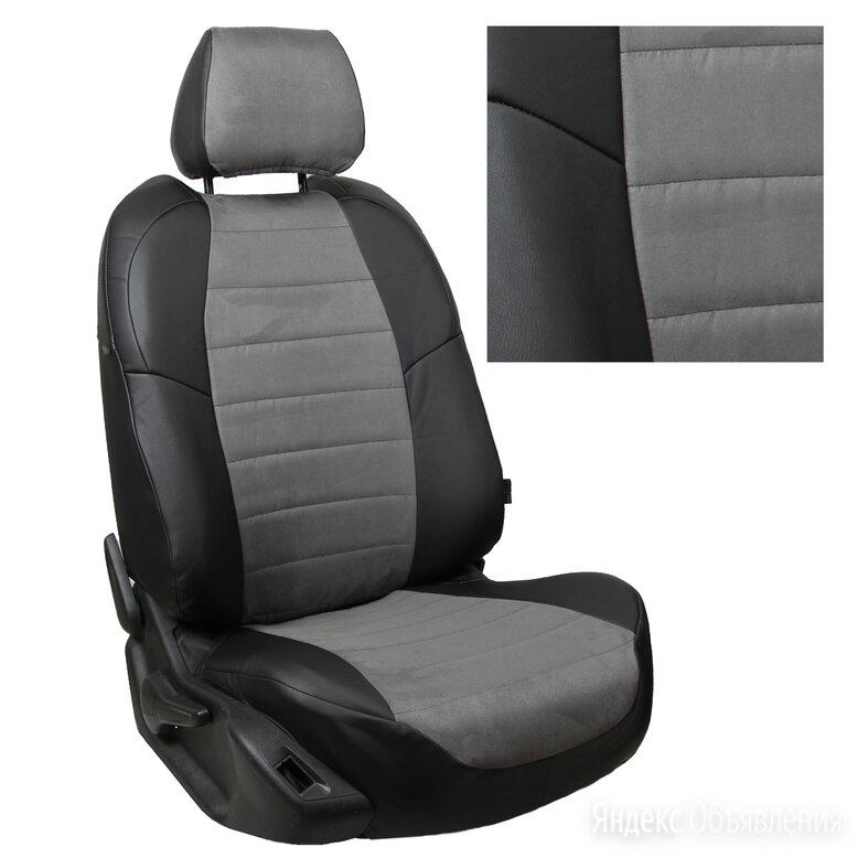 Чехлы из алькантары на Volkswagen Jetta 6 (2011-2018) Черный + Серый по цене 7500₽ - Аксессуары для салона, фото 0