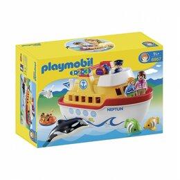 Настольные игры - Конструктор Playmobil 1-2-3 6957 Мой корабль, 0