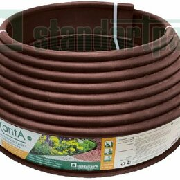 Заборчики, сетки и бордюрные ленты - Standartpark Бордюр KANTA пластиковый коричневый Standartpark Б-1000,10,02, 0