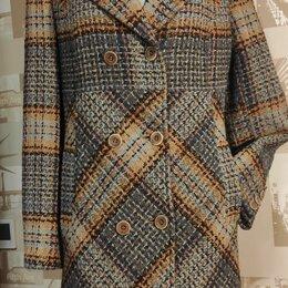 Пальто - женское пальто в клетку, 0
