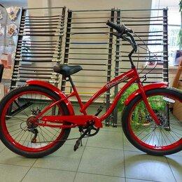 Велосипеды - Велосипед Cruizer (полуфэт) OK-32702 Lady 7 ск. 26'', 0