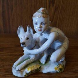Статуэтки и фигурки - Фарфоровая статуэтка ссср юный пограничник, 0