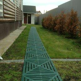 Садовые дорожки и покрытия - Пластиковая плитка для сборки садовой дорожки на даче, 0