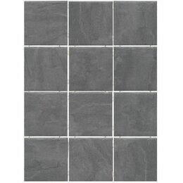 Плитка из керамогранита - Керамогранит Дегре 1300H серый темный (полотно из 12 частей 9.8х9.8), 0