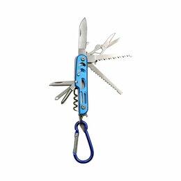 Ножи и мультитулы - PF-MT-03 Мультитул «СЛЕДОПЫТ» с карабином, 12 предметов, на блистере/120/, 0