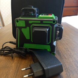 Измерительные инструменты и приборы - Лазерный нивелир 360 зеленый луч, 0