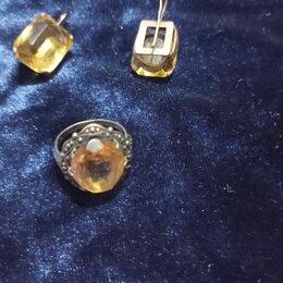 Комплекты - Винтаж. Серебро с позолотой. набор с цитрином. , 0