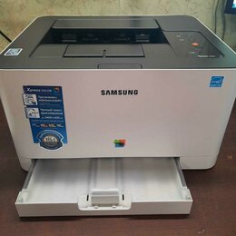 Принтеры, сканеры и МФУ - Принтер лазерный Samsung SL-C430W, 0