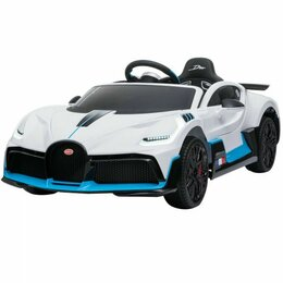 Электромобили - Детский электромобиль Bugatti Divo 12V - WHITE - HL338, 0