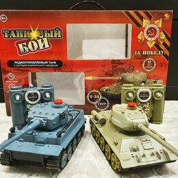 Радиоуправляемые игрушки - Танковый бой на радиоуправлении Т34 и Тигр, 0