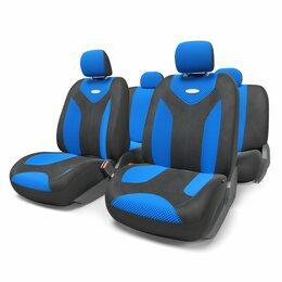 Кейсы и чехлы - Чехлы MATRIX, форм. велюр (11предм), карман, 3 молнии,  черный/синий, размер M, , 0