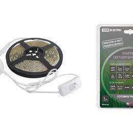 Светодиодные ленты - Комплект LED лентыSMD2835-60LED/м-12 В-4,8 Вт/м-IP20-6000 К (5м), 24 ВтTDM, 0
