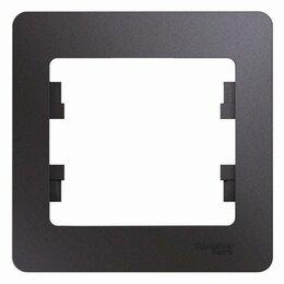 Строительные блоки - Рамка 1-м Glossa графит SchE GSL001301, 0