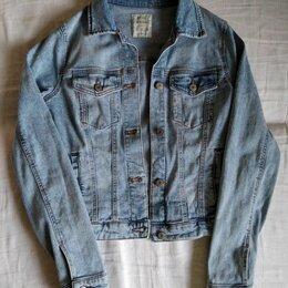Куртки и пуховики - Джинсовая куртка Bershka р-р 40-42, 0