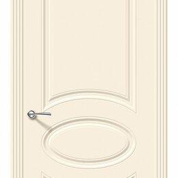 Входные двери - Межкомнатная дверь эмаль Bravo Скинни-20 Cream глухое полотно 600х2000мм, 0