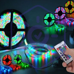 Светодиодные ленты - Комплект многоцветной ленты 4,8Вт/м (бери и включай) 5м, 0