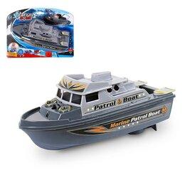 Прочее - Катер «Морской патруль», работает от батареек, световые и звуковые эффекты, 0