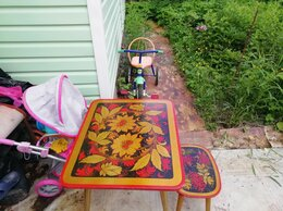 Столы и столики - Детский столик со стулом. , 0