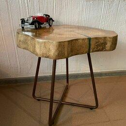 Столы и столики - Журнальный столик лофт из спила клена, 0