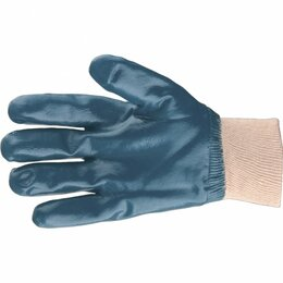 Приборы и аксессуары - Перчатки трикотажные с обливом из бутадиен-нитрильного каучука, манжет, ..., 0