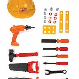 Детские наборы инструментов - Игровой набор инструментов с каской (УЦЕНКА), 0
