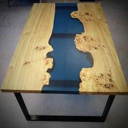 Столы и столики - Стол слэб с эпоксидной смолой, 0