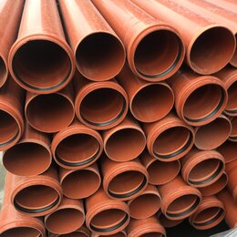 Канализационные трубы и фитинги - Труба канализационная  110 мм нпвх оранжевая 2м, 0