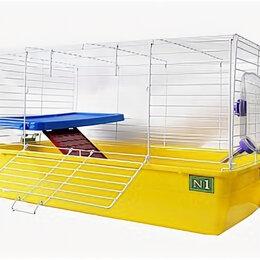Клетки и домики  - N1 Клетка универсальная для кролика и шиншилы, 69*45*43, боковая дверь, 2-эта..., 0