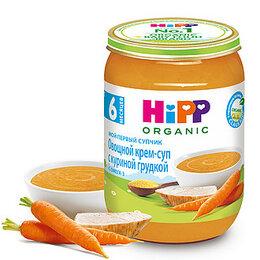 Детское питание - HIPP Крем-Суп Овощной с Куриной Грудкой с Омегой-3 {с 6 мес} 190г., 0