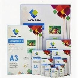 Расходные материалы для ламинаторов - Пленка для ламинирования, глянцевая, 216x303 (A4), 60мкм, 0