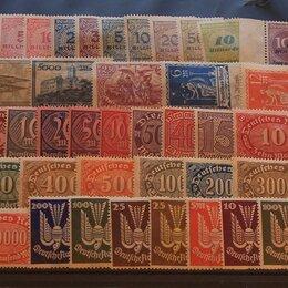 Марки - Набор марок Германия Веймар примерно 140 штук, 0