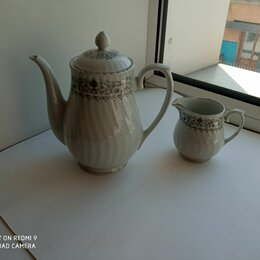 Заварочные чайники - Чайник заварочный и молочник набор, 0