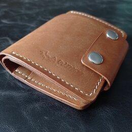 Кошельки - Мужское портмоне из толстой кожи ручной работы, 0