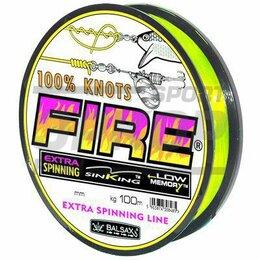 Леска и шнуры - Леска Balsax Fire F-Yellow 100 м 0,45 мм 21,9 кг, 0